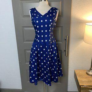 Pendleton Silk Blend Blue Polka Dot Dress GUC 4P